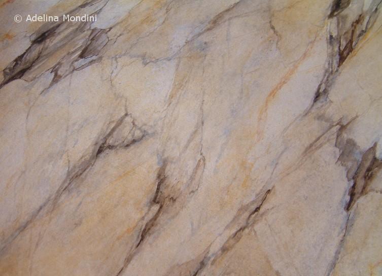 Imitazione pittorica marmo <i>&quot;Breccia grigia antica&quot;</i>